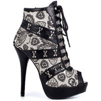 Iron Fist - Love Lace Plat Bootie - Nude