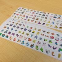 GENERATION 1 POKEMON PLANNER STICKER! PERFECT FOR YOUR ERIN CONDREN LIFE PLANNER, FILOFAX, PLUM PAPER & OTHER PLANNER OR SCRAPBOOKING!