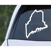 Maine State Outline ME - USA America Die Cut Vinyl Decal Sticker