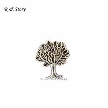 FLOATING MEMORY CHARMS FOR LOCKETS 'TREE OF LIFE' Wicca new age necklace LFC_411