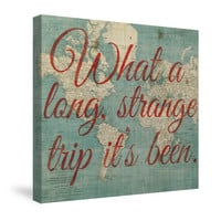 World Map Inspiration - Strange Trip Canvas Wall Art