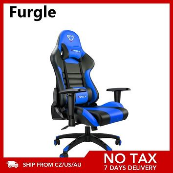 Furgle Gaming Chairs Office Chair Computer Chair with High-back Synthetic Leather