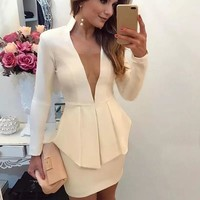 Double Breasted Blazer and Skirt Set