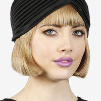 Black Satin Turban Hat