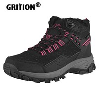 Women Winter Hiking Boots Waterproof Platform Ankle Sports Shoes PU