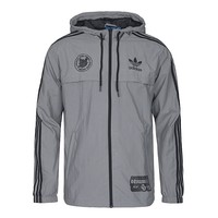 ADIDAS Clover 2018 new sportswear hooded jacket Grey