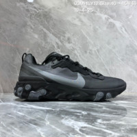 HCXX N1481 Nike Epic React Element 87-Undercover Mesh Fashion Running Shoes Black Gray