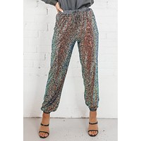 All Eyes On Me Black Multi Sequin Pants