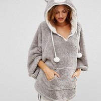 Boux Avenue Bear Cape Dressing Gown at asos.com