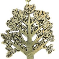 Tree Necklace Perched Birds Pendant Inspirational Words ND43 Leaf Plant Leaves Charm Fashion Jewelry