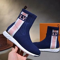 Louis Vuitton LV Women Fashion Socks Boots Sneakers Sport Shoes