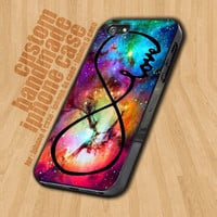 Infinity Love Purple Galaxy Nebula  - iPhone 4 / 4s Case - iPhone 5 Case - Black Case - White Case