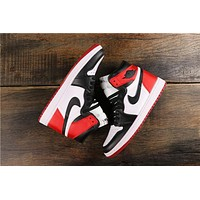 Air Jordan 1 Retro High OG Black Toe Silk CD0461-016