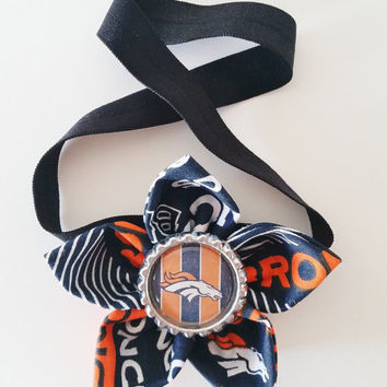 Denver Broncos Headband, Toddler and Newborn Football Headband, Broncos Hair Accessory, Broncos Baby, Broncos Hairbow