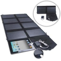 52-Watt 24V Dual Output Folding Solar Panel Battery Charger for Phone Tablet