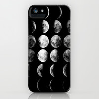Moon Love iPhone & iPod Case by Pink Berry Pattern