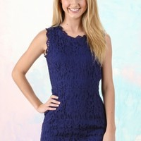 This One Time Dress-Navy