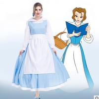 Beauty and the Beast Halloween women princess belle maid hot selling new role-palying adult Cosplay carnival Costume party Dress