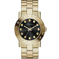 Marc by Marc Jacobs Amy Goldtone Stainless Steel Black Dial 3-Hand Wat