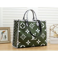 LV hot selling fashionable lady casual patchwork print single shoulder shopping bag #4