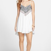 Paper Crane Embroidered Slipdress (Juniors)