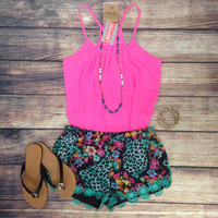 LEOPARD NIGHTFALL SHORTS IN MINT