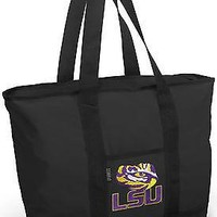 LSU Tote Bag for Beach Travel or Shopping! ZIPPERED TOP-STRONG  STRAPS!