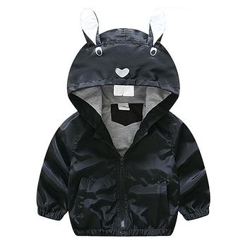 Cool Kids Toddler Boy Jacket Coat Spring Autumn Hooded Windbreaker Children Outerwear Costume Baby Clothes Clothing With Ear