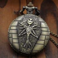 Burton's Nightmare Before Christmas SteamPunk Style Pocket Watch