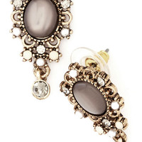 ModCloth Vintage Inspired Glamour Gal Earrings