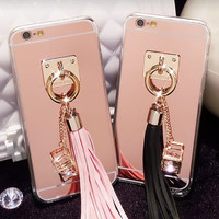 Tassel Mirror Phone Case for iphone 6 6s for iphone 6 6s  plus
