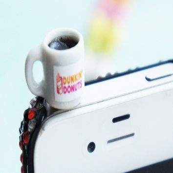 dunkin donut coffee phone plug