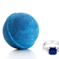 Sapphire: September Birthstone - Bath Bomb With a Ring and a Chance to Win a $10k Ring