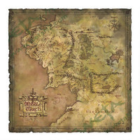 The Lord of the Rings Map of Middle-earth by Weta |