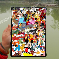 Disney Character Collage,Disney iPad Air Case,iPad Mini case,iPad 2 case,iPad 5,case,ipad 3 case,ipad 4 case,New iPad case,iPad cover-006
