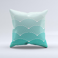 The Beach Hotel Wallpaper Waves ink-Fuzed Decorative Throw Pillow
