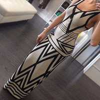 Women's Fashion Sexy Sleeveless Evening Party Prom Clubwear Long Maxi Dress = 1931511940