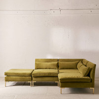 Cecilia Velvet Sectional Sofa | Urban Outfitters
