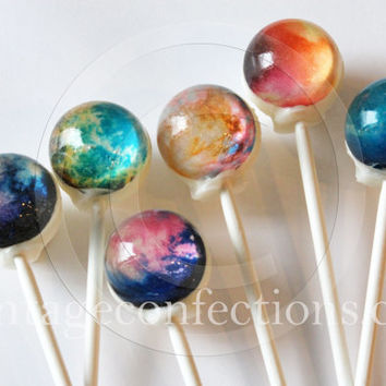 Nebula edible art hard candy by Vintage Confections