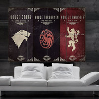 Game of thrones Sigil poster print art huge big picture wall HH11189 S16
