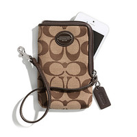 COACH North/South Universal Case in Printed Signature Fabric
