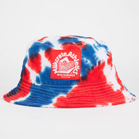 Milkcrate Athletics Usa Tie Dye Mens Bucket Hat Red/White/Blue One Size For Men 23108394801