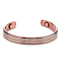 Stripe Magnetic Copper Cuff