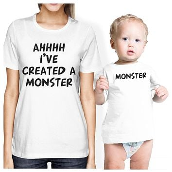Created A Monster Mom and Baby Matching Gift Shirts For New Moms