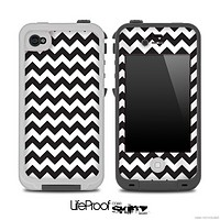 Black & White Chevron Pattern for the iPhone 5 or 4/4s LifeProof Case
