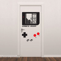 Personalized Game Console  - Vinyl Wall Art - FREE Shipping - Fun Gameboy Inspired Wall Decal
