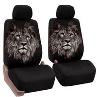 Universal Car Seat Covers Animal / Lion Pattern For Bucket Seats
