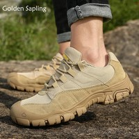 Golden Sapling Mens Hiking Shoes Breathable Mountain Tactical Boots Military Trekking Sneakers Men Waterproof Outdoor Shoes Man