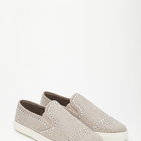 Studded Faux Suede Slip-Ons