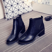 Retro Vintage Womens Distressed Ankle Bootie Shoe